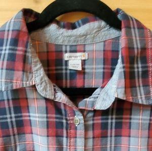 Carhartt Women's Dodson Plaid Shirt SZ L